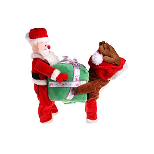 Yeahii Funny Pet Dog Clothes Santa Claus Carrying