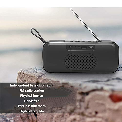 Household appliances Bluetooth Audio FM Radio, Mini Wireless Outdoor Portable, Support TF Extension Support U Disk Expansion AUX Input AOYS by Household appliances (Image #3)