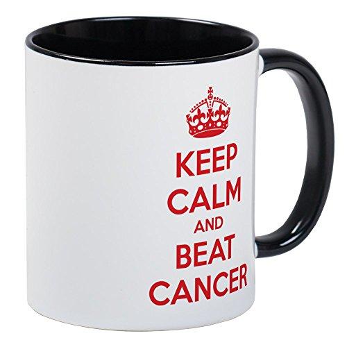 (CafePress - Keep Calm And Beat Cancer Mug - Unique Coffee Mug, Coffee Cup)