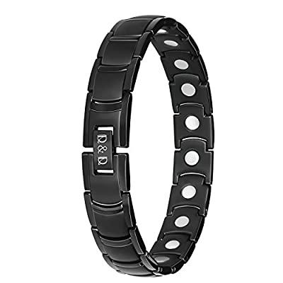 Men's Magnetic Bracelets for Arthritis,Pure Titanium Arthritis Pain Relief Magnetic Therapy Wristbands for Carpal Tunnel,Adjusting Tool Included