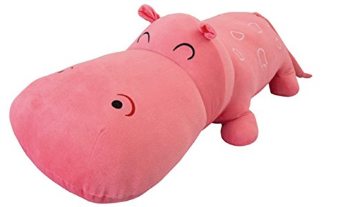 BIBITIME Plush Toys Doll Pillow Hippo Vintage Home Decorative Throw Pillows Back Cushion Pink ,75 cm = 29.53 IN