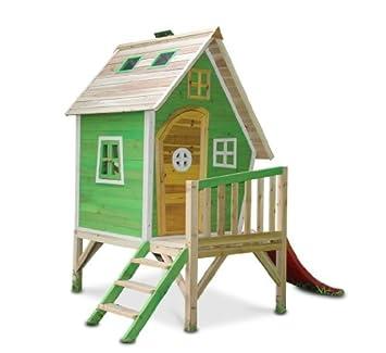 Sehr Gut Kinderspielhaus MAYA - Stelzenhaus aus Holz mit Rutsche: Amazon.de  NV44