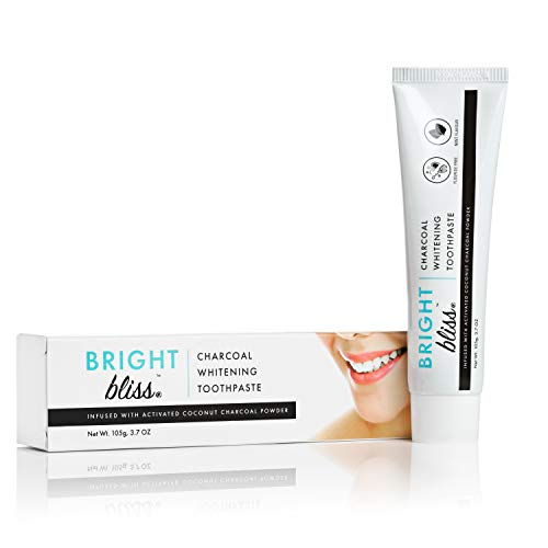 Activated Charcoal Teeth Whitening Toothpaste - Natural teeth whitener - Fluoride Free - Mint Flavor - 105g