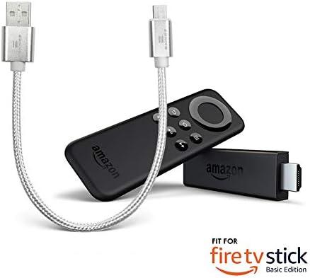 Cable cargador trenzado EXINOZ® diseñado para Fire TV Streaming ...