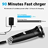 Ceenwes Electric Razor Waterproof Cordless Clippers Hair Trimmer Mens Rechargeable Barber Shavers with Electric Shaver Head 4 Guide Combs for Men Kids Babies