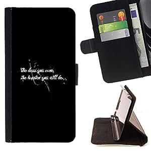 BullDog Case - FOR/Samsung Galaxy S4 IV I9500 / - / worry happiness black white text inspiring /- Monedero de cuero de la PU Llevar cubierta de la caja con el ID Credit Card Slots Flip funda de cuer