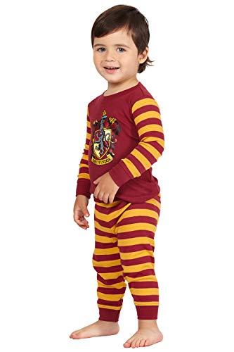 HARRY POTTER 'Gryffindor House Crest' Cotton Baby Pajama Gift Set, Gryffindor, 18MO Red