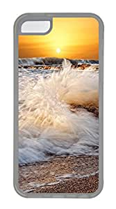 iPhone 5C Case, iPhone 5C Cases - Nature waves Polycarbonate Hard Case Back Cover for iPhone 5C¨C Transparent