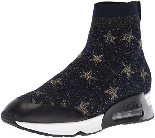 Black Sneaker Knit Nappa Calf Ash Star Gold Women's Midnight Lulla zvqvnx4UZ