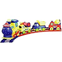 DD RETAILS Cartoon Train with Magnetic Connect Coach for Children (Multi Color)