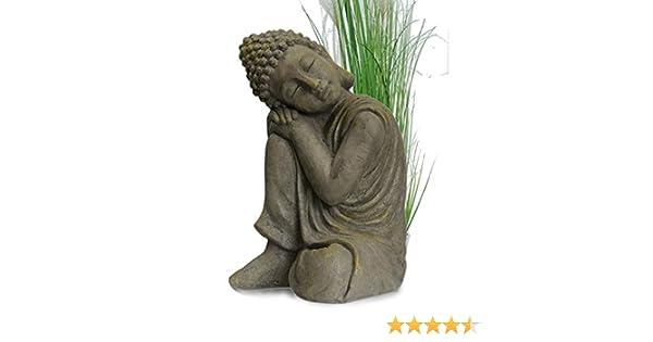 INtrenDU® Figura de Buda Para Casa y Jardín - Altura 44cm: Amazon.es: Jardín