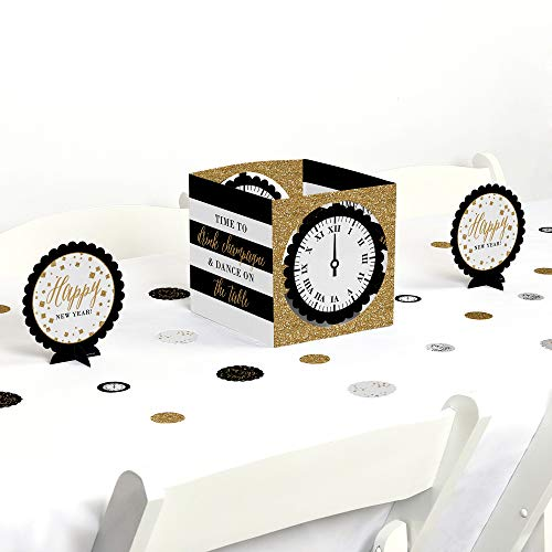 Big Dot of Happiness New Year's Eve - Gold - New Years Eve Party Centerpiece & Table Decoration Kit]()