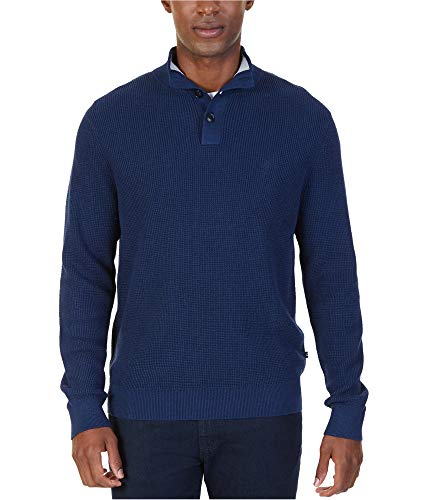 Nautica Mens Ribbed Pullover Sweater Blue 2XL ()
