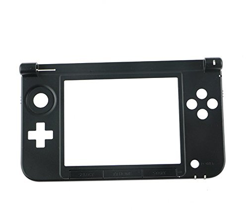Replacement Shell Housing Bottom Middle Plastic Frame For Nintendo 3DS XL LL Case Shell Black (Replacement Housing)