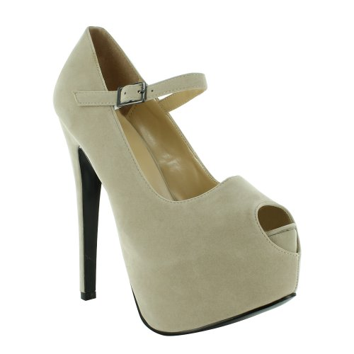 Footwear Sensation - Sandalias de vestir para mujer Beige - Beige 2