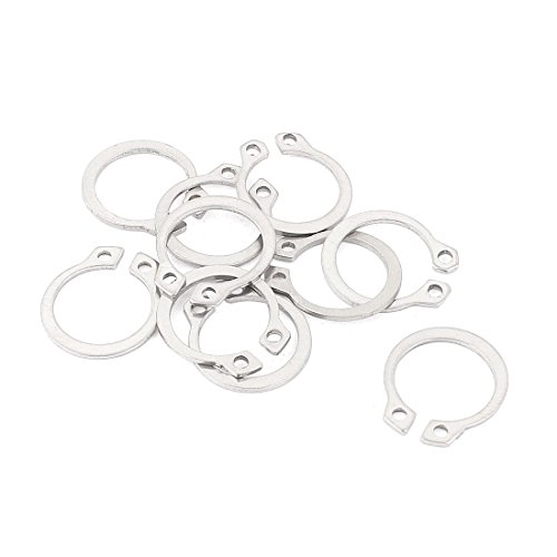 External Circlip Retaining Shaft Snap Clip Rings 15mm 10pcs