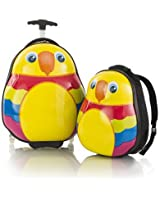 Heys Parrot Travel Tots - Lightweight 2pc. Kids Luggage & Backpack Set