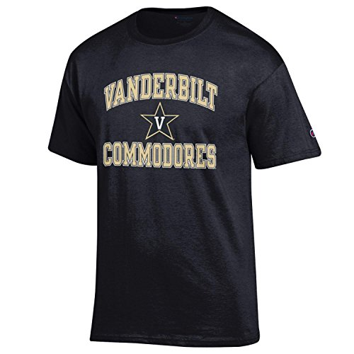 Champion NCAA Men's Shirt Short Sleeve Officially Licensed Team Color Tee, Vanderbilt Commodores, X-Large