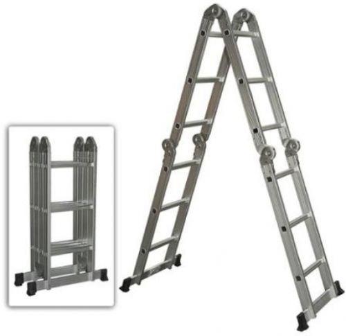 encoco Multi Purpose aluminio escalera plegable Escalera Andamio extensible Heavy Duty por escaleras