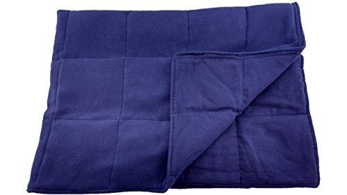 Grampa's Garden 5 LB Weighted Blanket - Navy - Premium Weighted Washable Body Blanket