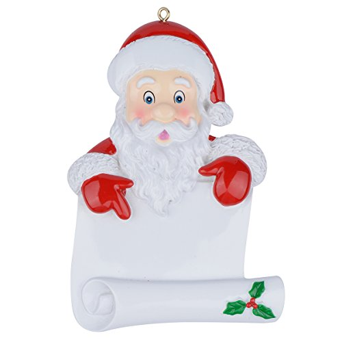 MAXORA Santa's Scroll Personalized Christmas Ornament ()