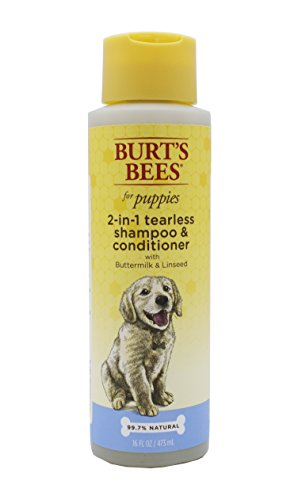 Burt's Bees for Puppies All-Natural Tearless 2 in 1 Shampoo and Conditioner | Best Tearless Shampoo For All Dogs and Puppies