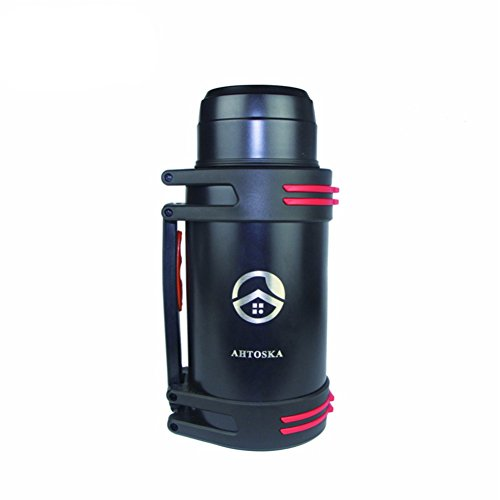 2800ML Large Capacity Thermos Stainless Steel Vacuum Cup Traveling Water Kettle Outdoor Thermos(black)