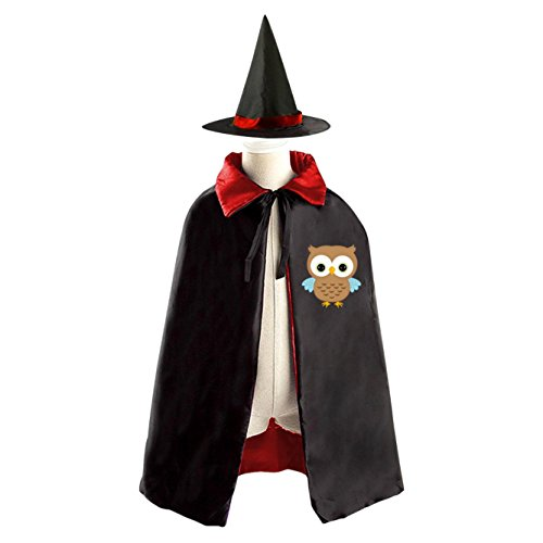 [Little Owl Halloween Costume Wizard Witch Cloak Cosplay Cape Dress Up] (Scarecrow Dress Up Ideas)