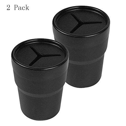 Mosuch Car Storage Holder for Pens Coins Cash Fits in Cup Holder 2 Pack Black