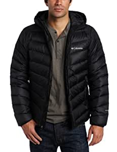 Columbia Men's Hellfire Down Hooded Jacket, Black, Small