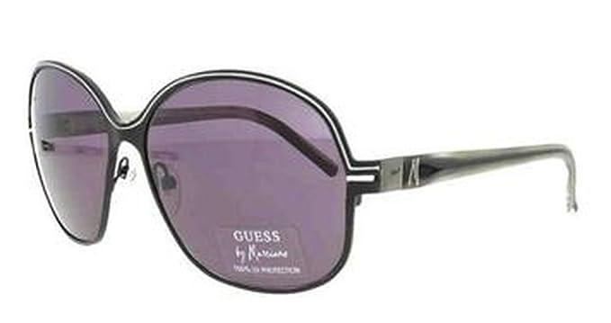 bb63ff827e Guess by Marciano Women s Designer Sunglasses GM 621 BLK-3  Amazon ...