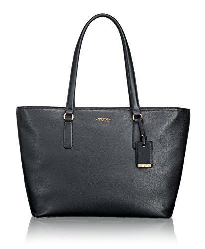 Tumi Women's Voyageur Leather Carolina Travel Tote, Black, One Size