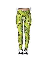 Watercolor Kiwifruit Painting Women's Tights Active Yoga Running Pants Workout Leggings