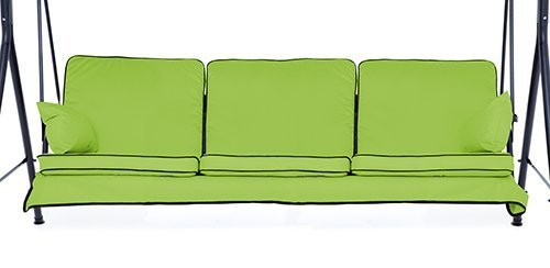 Lime Green Complete Replacement Cushions Set for 3 Seater Swing Seat Hammocks Gardenista