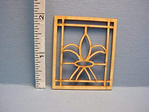 Dollhouse Miniature Decorative Window Mullion # K-W Laser Creations 1/12th Scale