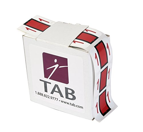 TAB CompuColor Numeric Label Roll, 1, Red, 1