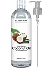 Fractionated Coconut Oil 16 Oz - 100% Pure & Natural - One of the Best Aromatherapy Carrier Oils - Excellent as a Massage Oil with Numerous Hair & Skin Benefits - Great Base Oil for Therapeutic Recipes & Essential Oils - Safe Moisturizer & Softener- Buy Without Risk Today!
