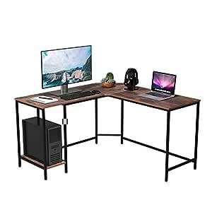 Homfa Mesa de Escritorio Mesa para Ordenador en Forma de L ...