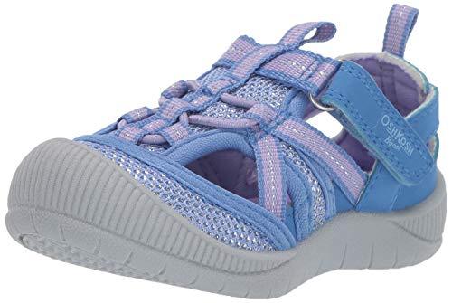 - OshKosh B'Gosh Myla Girl's Mesh Athletic Bumptoe Sandal Sport, Periwinkle 12 M US Toddler