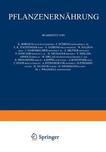 Pflanƶenernährung: Erster Band (German Edition)