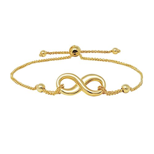 Infinity Knot Bolo Bracelet in 14k Yellow Gold ()