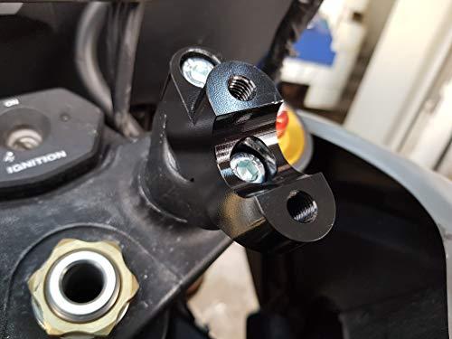 Bay4Global GY-DL650.35S Handlebar Riser for Suzuki v-Strom DL650 Motorcycle increase 30mm up 20mm back Black