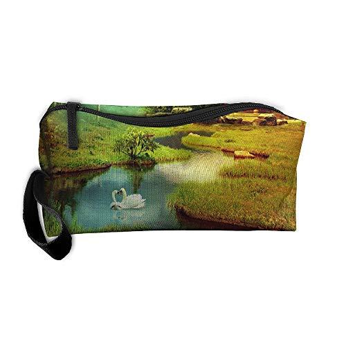 Jessent Coin Pouch 3d Clipart Pen Holder Clutch Wristlet Wallets Purse Portable Storage Case Cosmetic Bags ()