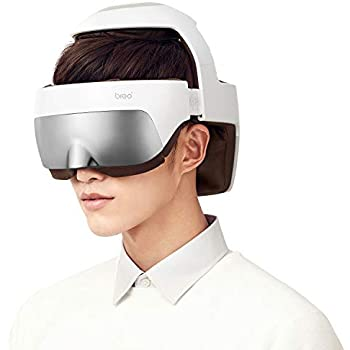 Breo iDream5 Rechargeable Head Massager, Eye Massager 2-in-1 Electric Helmet Massager with Heat, Air Compression, APP Control for Head Stress Relief