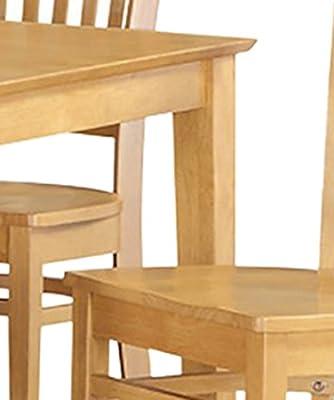 East West Furniture CAGR5-OAK-W 5-Piece Dining Table Set