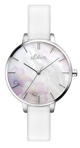 s.Oliver Damen Analog Quarz Armbanduhr SO-3522-LQ 1