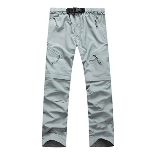 Lannister Fashion Pantalones Largos para Hombres Pantalones Vaqueros Desmontables Hombres para Pantalones Ropa Basicas Deportiva Pantalones Deportivos Pantalones Deportivos Grau
