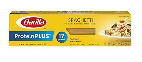 Barilla Protein Plus Pasta, Spaghetti, 14.5 Ounce (Pack of 12), (Packaging may vary) (Barilla Thin Spaghetti)