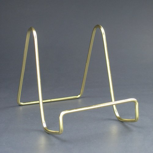 Wire Easel Display Stand Plate Holders Smooth Brass & Metal Plate Stands - Castrophotos