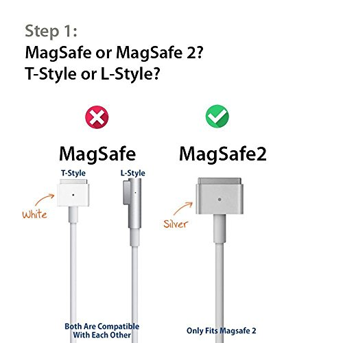 Macbook Air Charger, 45W Magsafe 2 T-Tip Power Adapter Charger replacement for MacBook Air 11/13 inch by SUPSUN (Image #1)